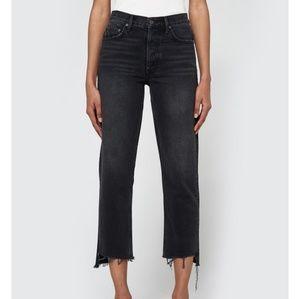 Helena High Rise Denim Pants- Black
